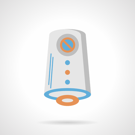 freshener: Home air freshener. Fresh fragrance for room, bathroom. Automatic portable device for air cleaning and improvement. Flat color style vector icon.