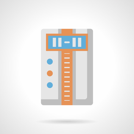 air condition: Household climatic appliance. Comfortable home air condition and temperature. Humidity control, ionization air purification, acclimatization systems. Flat color style vector icon.