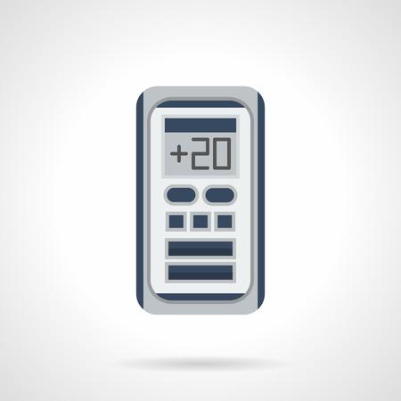 Télécommande pour système d'air conditionné. Régulation de la température électronique. appareils climatiques modernes et l'équipement pour la maison et le bureau. Flat vecteur icône de style de couleur.