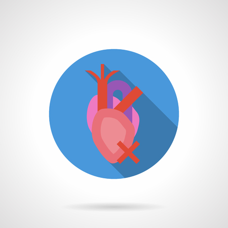 Health problem with heart disease. Symbol of heartache. Damaged organs from bad habits. Effects of an unhealthy lifestyle Illustration
