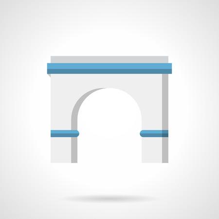portail antique classique ronde arc avec des colonnes. éléments d'architecture de décoration dans la construction, pour la construction de l'extérieur, les objets extérieurs. Flat vecteur icône de style de couleur.