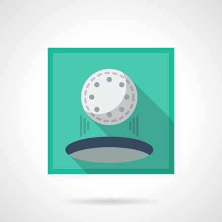 hole in one: Hole in one flat square vector icon Illustration