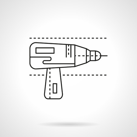 gimlet: Drill for metal flat line vector icon Illustration
