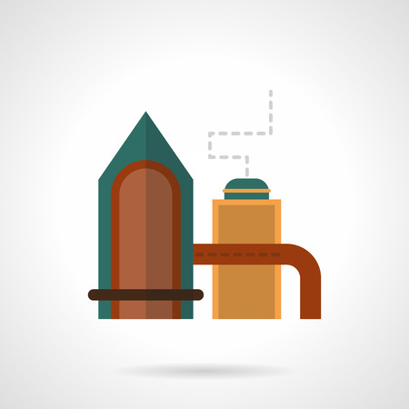 distilling: Distilling plant flat color vector icon