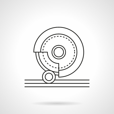 Grinding stone flat line vector icon Illustration