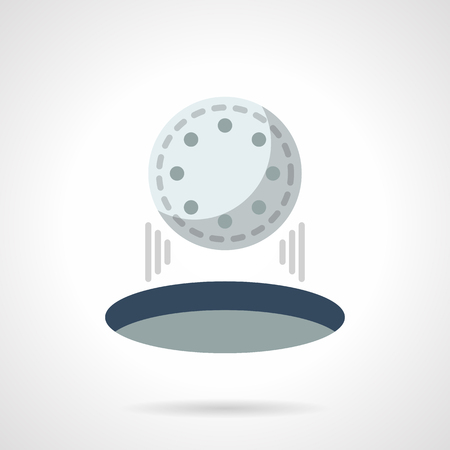 dimple: Hit in golf hole flat color vector icon Illustration