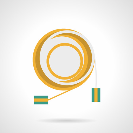 Connection cord flat color vector icon