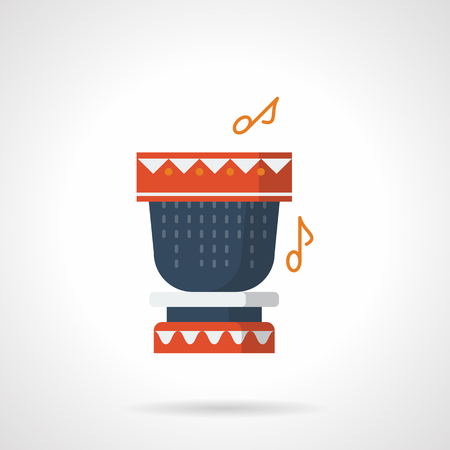 Percussion instrument flat color vector icon 向量圖像