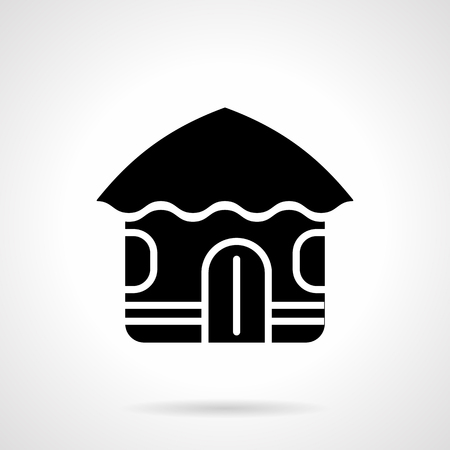Abstract hut glyph style vector icon
