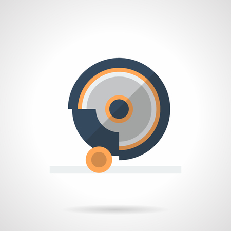 Grindstone disk flat color icon.