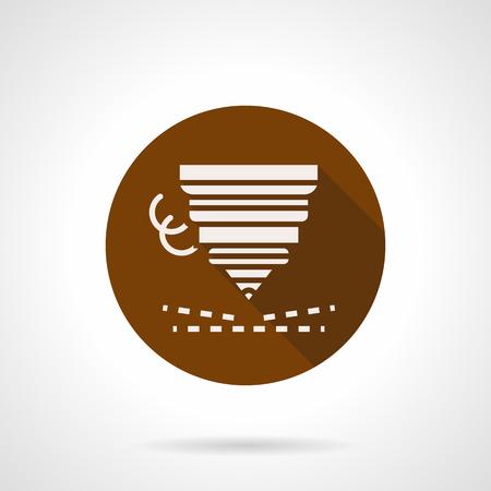Metall-Werkstück schneiden flache Runde Vektor-Symbol