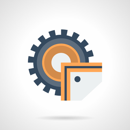 Industrial saw flat color vector icon