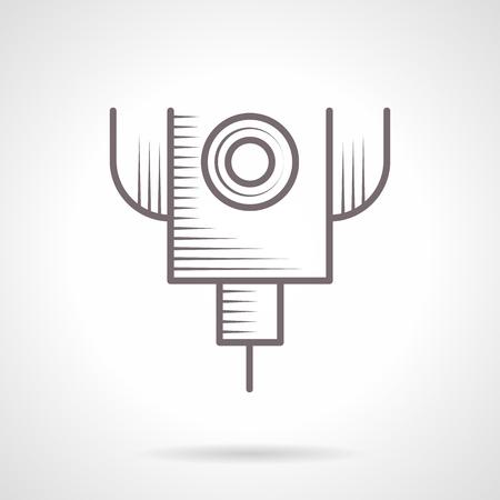 Lasergeschnitten Maschine Vintage Vektor-Symbol