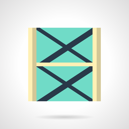 Stage scaffolding flat color vector icon