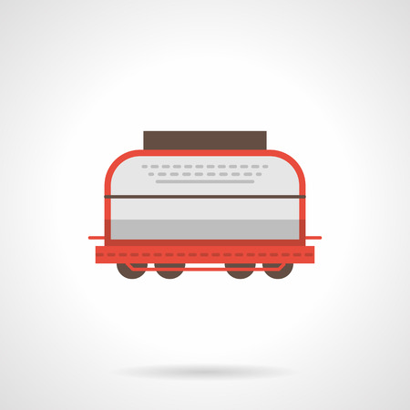 boxcar: Universal boxcar flat color vector icon Illustration