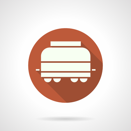 refrigerated: Refrigerated rail car round vector icon Illustration
