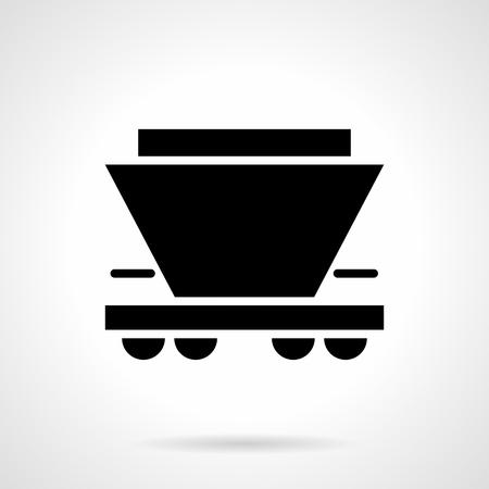 Freight rail car glyph style vector icon