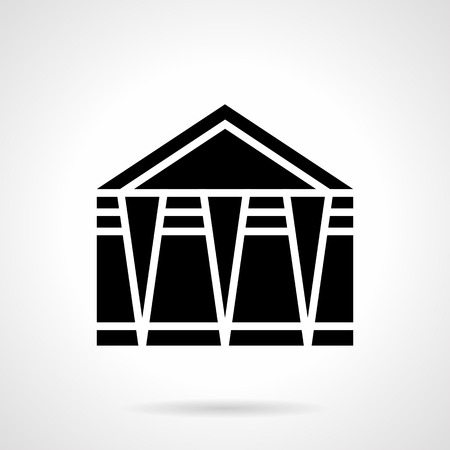 overhang: Folding event marquee glyph style vector icon