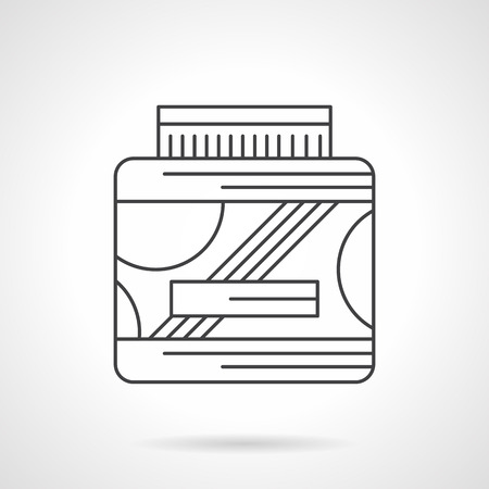 Abstract Symbol Of Bucket Or Canister Packing For Sport Supplements
