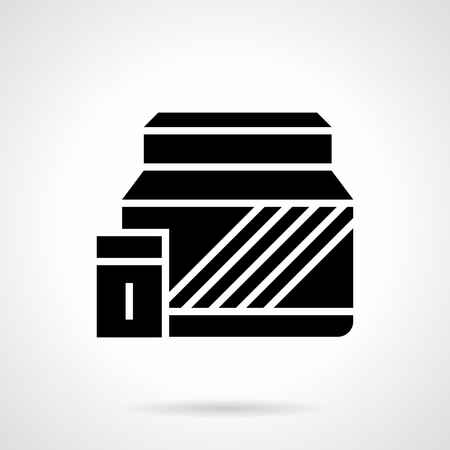 Symbol Of Canister Or Bucket With Nutritional Supplements Sport