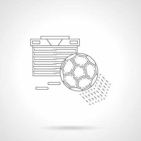 Football standings line vector illustration