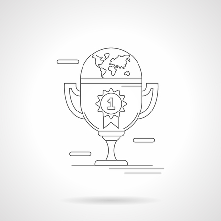Winners cup detailed line vector illustration