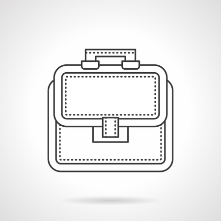 Bag of lawyer flat line vector icon illustration.