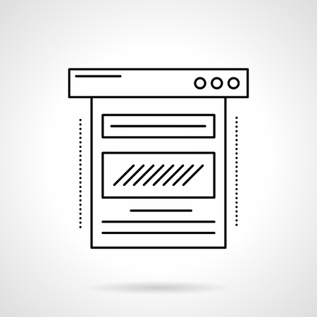 Blog web page flat line vector icon