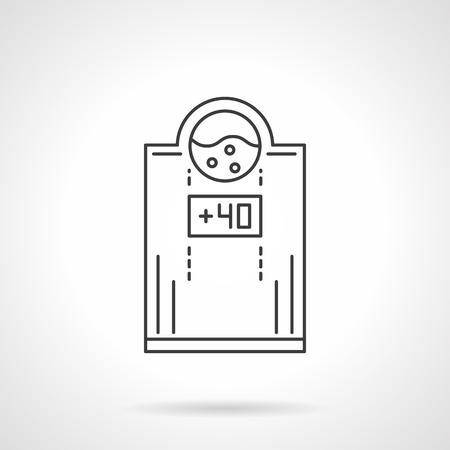 Electric water heater flat line vector icon Çizim
