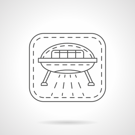 Science fiction flat line vector icon