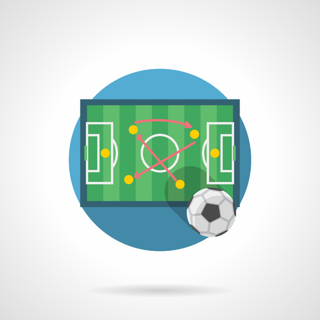 Football game tactics color detailed vector icon