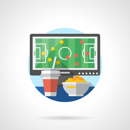 View football matches color detailed vector icon