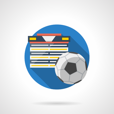 Football tournament color detailed vector icon Illustration