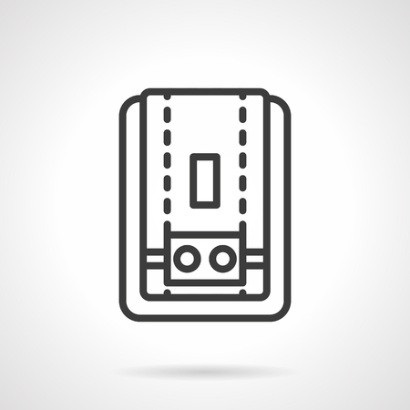 Water heater black simple line vector icon illustration.