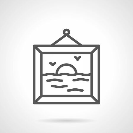 A picture gallery simple line vector icon