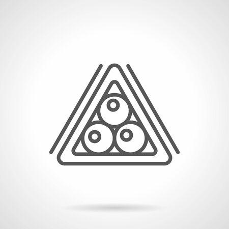 Billiard balls triangle simple line vector icon Stock Illustratie