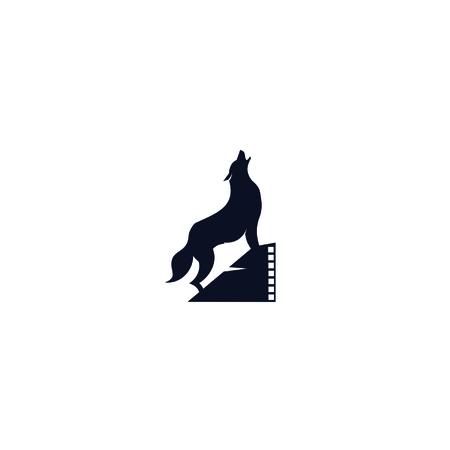 Creative vector combination wolf films