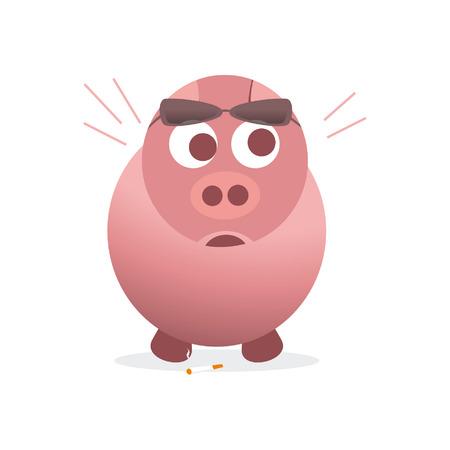 изумление: удивлен свиньи Иллюстрация