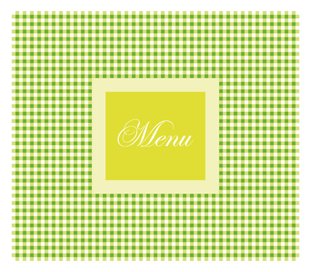 Green restaurant menu Vector