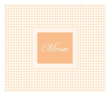 light brown: Light brown restaurant menu Illustration