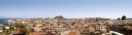 kerkyra: Corfu town - Kerkyra panorama Stock Photo