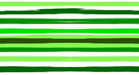 Green, Turquoise Vector Watercolor Sailor Stripes Cute Seamless Summer Pattern. Horizontal Brushstrokes Retro Vintage Grunge Textile Clothe Design. Ink Painted Doodle Trace, Geometric Uneven Print 矢量图像