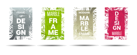Liquid Marble Frame.  Vector Funky Hipster Border for Sale Ads, Announcement. Modern Cover, Business Card, Music Poster Marble Textured Design Dynamic Futuristic Creative Neon Paints Banner.