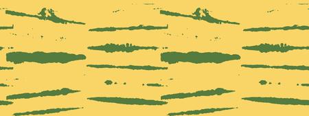 Japanese Kimono Vector Seamless Pattern, Trendy Tie Dye Geisha Ornament. Wabi Sabi Ikat Geo Texture, Asian Kimono Textile Watercolour Batik Design. Textured Shibori Cool Boho Seamless Summer Pattern Illustration