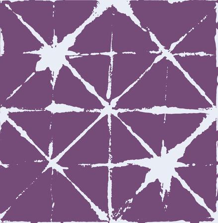 Japanese Kimono Vector Seamless Pattern, Female Tie Dye Organic Texture. Wabi Sabi Ikat Geo Texture, Asian Kimono Fashion Watercolor Batik Design. Children Shibori Geometric Seamless Summer Pattern