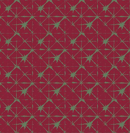 Japanese Kimono Vector Seamless Pattern, Female Tie Dye Organic Texture. Wabi Sabi Ikat Geo Texture, Asian Kimono Fabric Watercolor Batik Design. Hand Painted Shibori Geometric Seamless Background Stock Illustratie