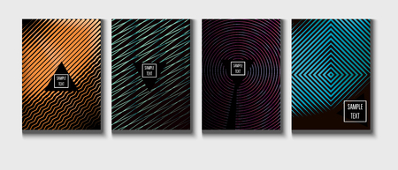 Modern Corporate Cover Design, Trendy Vector Music Poster. Green, Pink, Blue, Gray Geometric Presentation, Corporate Identity. Magazine Minimal Cover, Banner. Glam Clean Music Poster Template Vetores