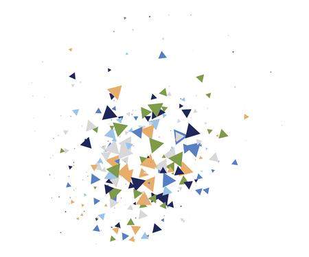 Broken Glass or Ice Explosion Vector Illustration. Bursting particles, boom, blast, bang, atomic energy, moving galaxy comic illustration. Grunge broken glass shatter fragments. Ice explosion effect.
