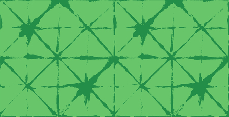 Japanese Kimono Vector Seamless Pattern, Artistic Tie Dye Geisha Ornament. Wabi Sabi Ikat Geo Texture, Asian Kimono Design Watercolour Batik Prints. Textured Shibori Geometric Seamless Summer Pattern Illustration