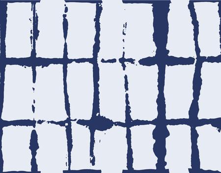 Artistic Tie Dye Geisha Ornament, Japanese Kimono Vector Seamless Pattern. Wabi Sabi Ikat Geo Texture, Asian Kimono Fashion Watercolour Batik Prints. Hand Painted Shibori Geometric Seamless Background Illustration
